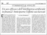 Intelligenza artificiale e investimenti